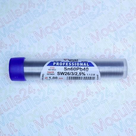 Lydmetalis 1mm diametro su fliusu