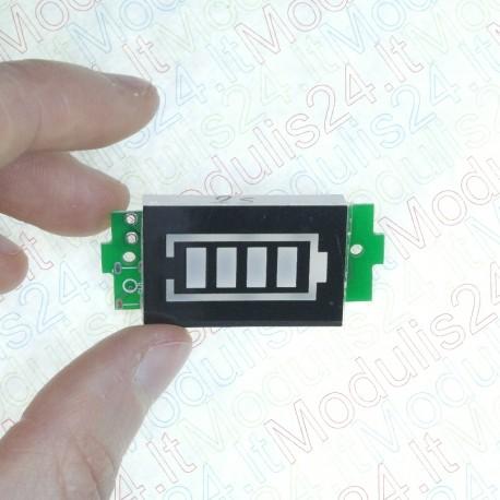 Baterijos indikatorius 2S 2 celių LiPO akumuliatoriams