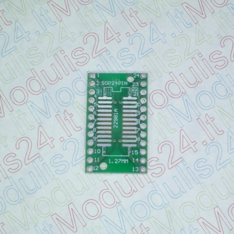 Perėjimas (adapteriai) iš SMT Į DIP SSOP24 (0,65mm) SOP24 (1,27mm)