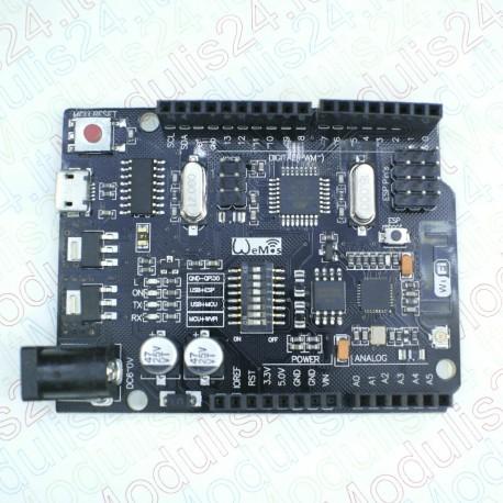 Uno R3 AT mega 328 Su WiFi Moduliu (ESP8266) Vidinė atmintis 32Mb