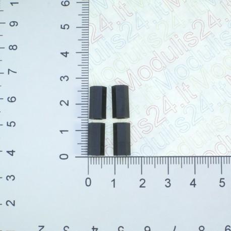 Plastikinės veržlės 3mm (ilgis 12mm) (4vnt)