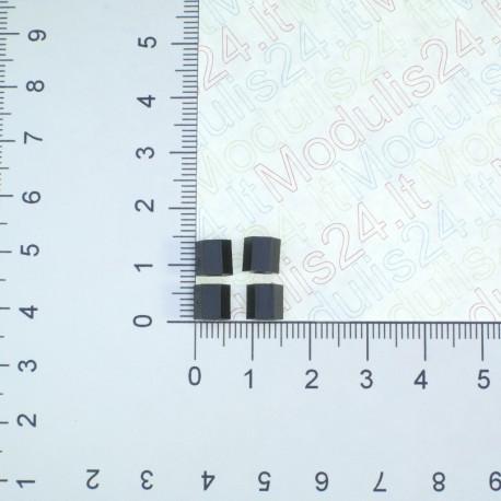 Plastikinės veržlės 3mm  (aukštis 6mm) (4vnt)
