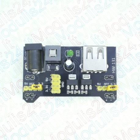 Maketavimo plokštės maitinimo šaltinis 3.3V/5V (Breadboard Power Supply)